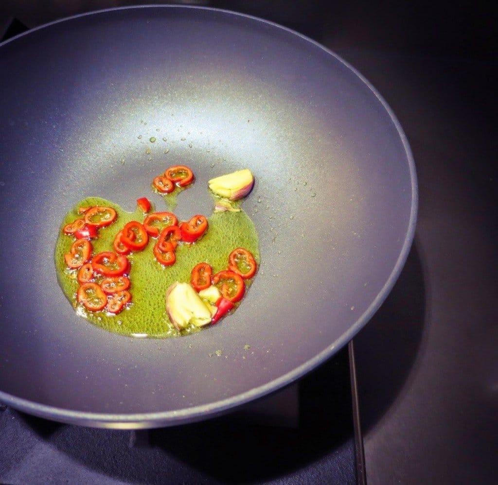 crema di zucchine e gamberi
