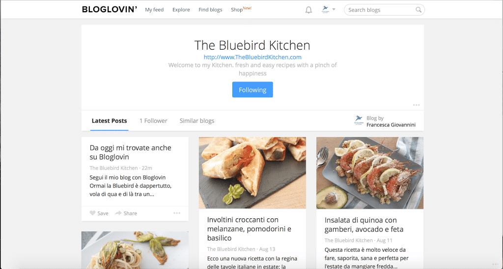 Bluebird Kitchen Menu